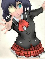 Rikka Colored (line art by GamerGirlist) by ErIkEe9139