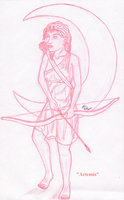 Artemis Sketch by Deorse
