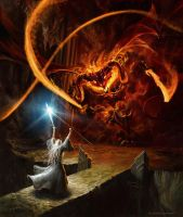 Gandalf and the Balrog by gonzalokenny