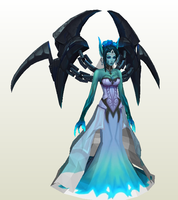 Morgana Gosth Bride League of legends by zhefiroth
