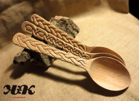 Cherry wood spoons V by kramkraka