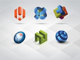 Free 3D Logo Templates Set by Pixeden