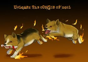 Unleash the Corgis of Hell by raerae