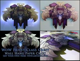 WoW Class Crest: Priest by StrayaObscura