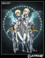 Teresa and Clare by ForkysAnime