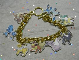 Eevee Evolution Charm Bracelet by kouweechi