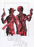 Bad MFs - Django and Jules Winnfield by ibroussardart