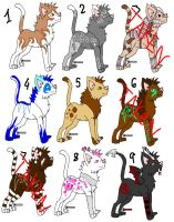 Cat Adoptables .:Open:. by neomon
