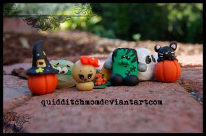 halloween figurines by quidditchmom