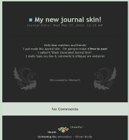 Black Decorated Journal Skin by AvitanOr