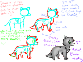 chibi wolf tutorial by sketchybunny
