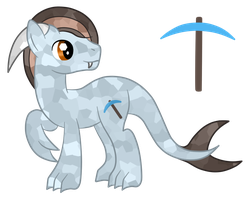 Gifty: Diamond Pickaxe the Longshu by SilverRomance
