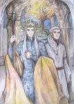 King Oropher and prince Thranduil by AnotherStranger-Me