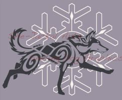 Snowflake Husky Shirt Design (now available) by Blitzava