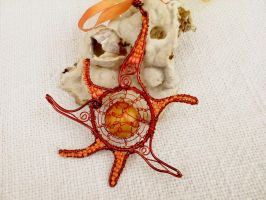 handcrafted pendant sunshine by Mirtus63