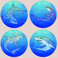Sharks buttons by ClefdeSoll