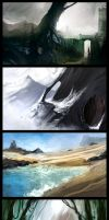 landscape speedpaints by Bawarner