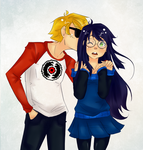 DavexJade- They're Cool by Omnomnom-Monster