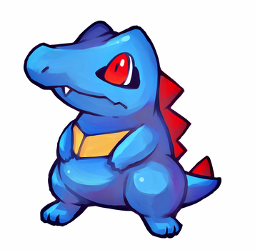 Totodile (For a friend :3) by TrickU