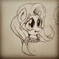 Fluttershy Sketches by Doggie999