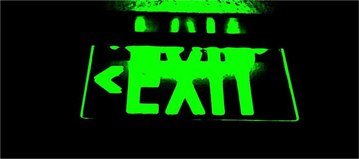 Exit Sign by Darkblue1945
