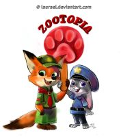 Zootopia - an old pics by Laurael