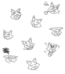 kitty faces by Lady-With-A--K