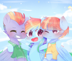 Rainbow Family  by WindyMils