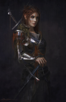 Swordswoman by Dropdeadcoheed