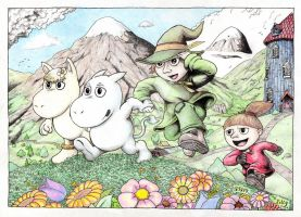 Moomin And Friends by simonpark81