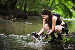 Lara Croft Underworld-water in jungle by Anastasya01