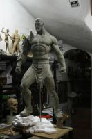 Escultura de Kratos escala 1/2 -7 by rieraescultura-art
