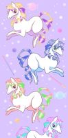 Candy Pony Fabric Design by CloverWing