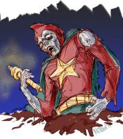 Zombie Starman by mothbot
