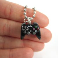Playstation 3 controller necklace by TrenoNights