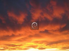 Unusual sunset colours Debian 1600*1200.jpg by Ivanmladenovi