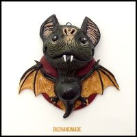 BAT Dragon #13 - Polymer Clay Charm by buzhandmade