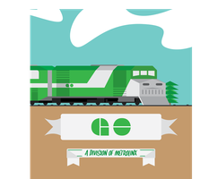 Unmastered GO TRAIN poster. by MrCazum