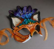 Featherfox - Leather Mask by windfalcon