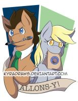 Doctor and Derpy by KyraDraws