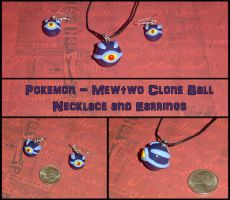 Pokemon - Mewtwo - Clone Pokeball Charms by YellerCrakka