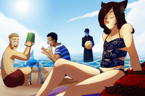 Comm: Beach time by Miss-Sheepy