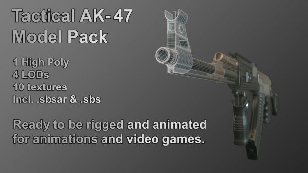 Tactical AK-47 Model Pack by contmike