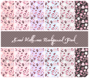 Sweet Halloween Background Pack by Riftress