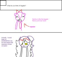 Ask Sammy question 10# Giggles by Ask-Cat-and-OCs