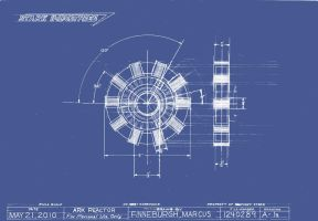 Arc Reactor Blueprint by MarkFinn