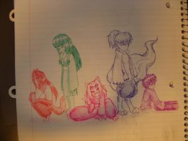 Kagome KoDashino n friends by Stelera