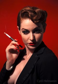 Smoking Hot by Cyril-Helnwein
