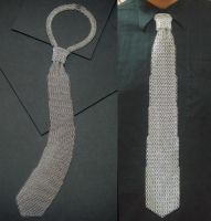 Chainmail Necktie by BorosilicateArachnid