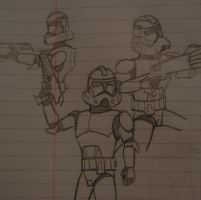 Clones At War Together by classicsonicawesome
